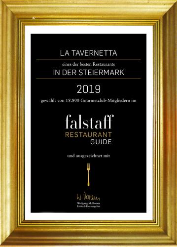 Eines der besten Restaurant in der Steiermark - Ausgezeichnet vom Falstaff Restaurant Guide